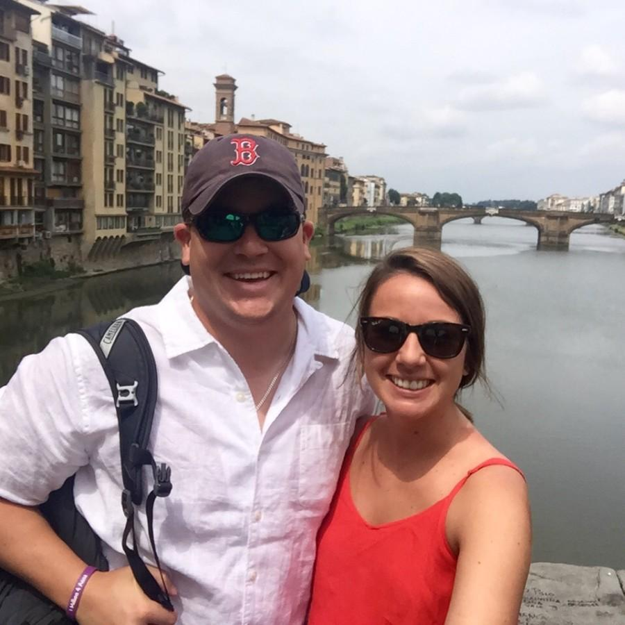 Nick Schiele and Katie Boggs in Italy