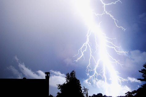 Source: Wikimedia There are no actual photos of the lightning strike that occurred the weekend of July 6.